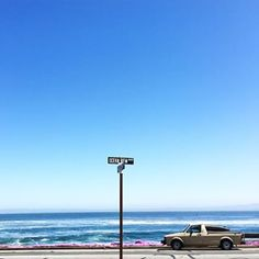 Flashback to Cali road trip. Sign says: Oceanview drive ... It might as well say ... 'I could stay here for forever' drive LOL.