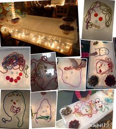 Creating faces with loose parts on the light table Reggio Emilia, Diy Light Table, Light Board, Sensory Activities, Children Activities, Creative Activities, Sensory Play, Sensory Table, Play Based Learning