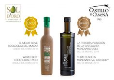 "¡¡Sol d'Oro para nuestro Biodinámico como ""Mejor AOVE Ecológico del mundo""!! & Sol de Bronce para nuestro Royal Temprano!...Our Biodynamic earned the Sol d'Oro as ""World Best Ecological EVOO"" !! & Bronze for our Early Royal!!"