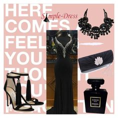 """""""Simple-dress# II-5"""" by merima-musanovic ❤ liked on Polyvore featuring Chanel, Prom, Spring, dress, wedding and bridal"""