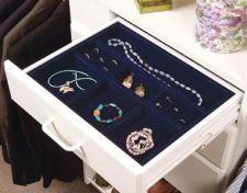 Velvet jewelry organizer from The October Company.
