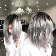 78 New Best Short Haircuts 2019 Featuring the Latest haircuts and hairstyles for all seasons. 78 New Best Short Haircuts Side Shaved Short Haircut for Hi Best Short Haircuts, Long Bob Hairstyles, Latest Haircuts, Silver Grey Hair, Gray Hair, Short Silver Hair, Ombre Hair Color, Hair Colors, Short Hair Cuts