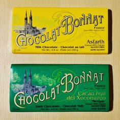 Chocolat Bonnat has been creating fine #chocolate since founder Felix Bonnat opened up shop in Voiron, France in 1884. Today the Maitre-Chocolatier is Stephane Bonnat. You\'ll find their 75% Xoconuzco & 65% Asfarth bars at Nordstrom Seattle, Bellevue Square, & San Francisco Centre. #Bonnat #beantobar #craftchocolate #Nordstrom #Asfarth #Xoconuzco #ChocolatBonnat #Voiron #France