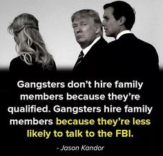 The Entire Trump Family is a Disgrace and what they are doing to the Office of the Presidency is Unbelievably Shameful.