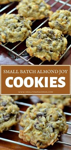 A Father's Day dessert that you can bake and freeze ahead! Small Batch Almond Joy Cookies are simply amazing. With the perfect blend of sweet coconut, semi-sweet chocolate, and sliced almonds, these delectable treats will remind you of one of your favorite candy bars!