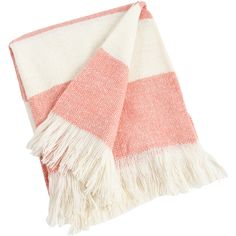 Striped Design Acrylic Throw Blanket Color: Pink (6.950 KWD) ❤ liked on Polyvore featuring home, bed & bath, bedding, blankets, acrylic throw blanket, striped bedding, pink throw, plush throw and pink throw blanket