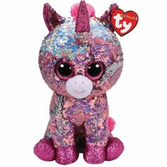 Sparkle Pink Unicorn Flippable Medium is part of the Flippable Beanie Boos collection from Ty. Flippables are plush animals covered with sequins and when you pet the sequins, they turn over to reveal a different colour. Ty Toys, Kids Toys, Ty Peluche, Doll Toys, Dolls, Ty Beanie Boos, Beanie Babies, Ty Babies, Best Decor