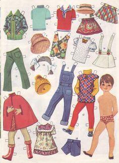 Бумажная кукла журнал 70е СССР