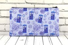 Doctor Who Pencil Case, Doctor Who Small Zipper Pouch, Small Make Up Bag, Sci-Fi Bag, Whovian Gift, Geek Bag