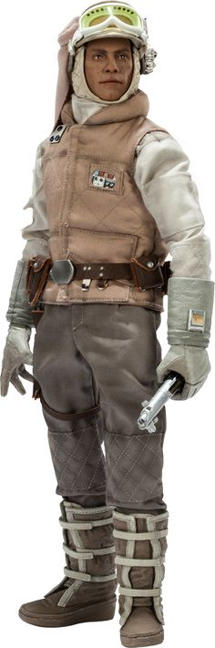 """Sideshow Collectibles Star Wars Commander Luke Skywalker - Hoth Sixth Scale Figure ~ """"Bundled up in authentically replicated cold-weather fatigues, featuring hand-tailored insulated clothing & an additional portrait w headgear & snow goggles, Luke is prepared to head out into the freezing wilderness surrounding Echo Base armed w his trusty lightsaber, blaster, & macrobinoculars."""" ~ New: $209.99 ~ Release: Oct 2014"""