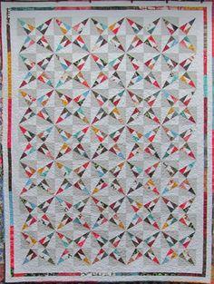foundation pieced kaleidoscope-y quilt