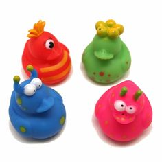 The monster rubber duckies are the classic rubber duck with some monster flare.