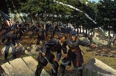 Hold the ground at all hazards-Keith Rocco....Colonel Strong Vincent directs Colonel Joshua Chamberlain into position on the Little Round Top, Gettysburg