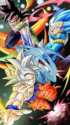 Bardock, Vegeta and Goku Dragon Ball Z, Dragon Manga, Dbz Wallpapers, Gogeta And Vegito, Dragon Warrior, Son Goku, Anime Fantasy, Anime Artwork, Illustrations