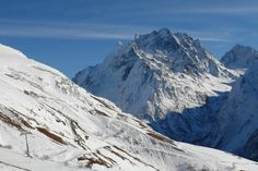 Caucasus. Karachay-Cherkessia. Dombay. On Mount Musa Achitara. Against the background of the mountain Dombai-Ёlgen (4046 m).