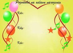 Pozvánky na oslavu narozenin - vzory - Oslavy-party.cz - oslavy plné zábavy!