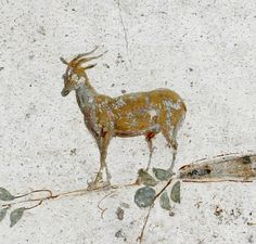 Stabiae, near Pompeii: wall painting from the portico of Villa Poppaea