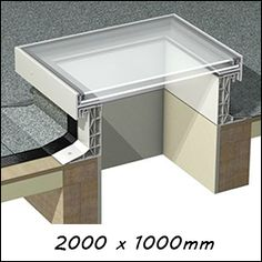 EG R19 - Glass Skylight Roof Window (1140mm x 2140mm Double Glazed)