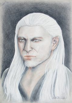 A bit different Geralt of Rivia by Helviriitta.deviantart.com on @DeviantArt