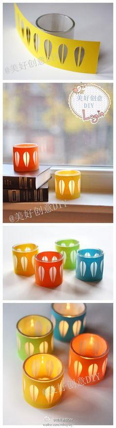 Ideias para Reciclar Boiões (Frasquinhos) de vidro // Diy : How To Make Simple Candlestick