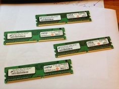 The new 4x1gb crucials are ready..