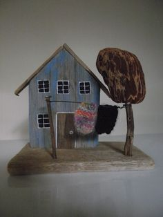 Driftwood House with teeny weeny blankets