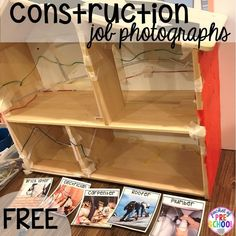 FREE construction jobs printable! Construction themed centers and activities my preschool