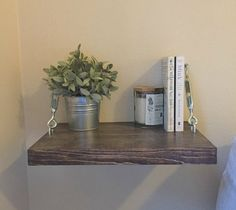 Rustic Floating Night Stand with Turnbuckle Support  Knotty By Nature Decor - Handcrafted & Made to Order  [ D E S C R I P T I O N ] Our Modern Floating Night Stand Bed with Turnbuckles great for adding a Rustic Industrial flare to you room. Use them as nightstands or as shelving units! _ _ _ _ _ _ _ _ _ _ _ _ _ _ _ _ _ _ _ _ _ _ _ _ _ _ _ _ _ _ _ _ _ _ _ _ _ _ _ _ _ _ _ _ _ _ _ _ _ _ _ _ _ _  [ F A Q ] Q: What are the dimensions of the Floating Night Stands? A: The Width ranges from 16 to…