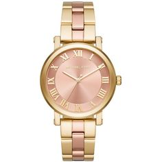 Michael Kors Watch - Ladys Watch Norie Two Tone Rose Gold/ Gold - in... ($255) ❤ liked on Polyvore featuring jewelry, watches, analog wrist watch, water proof watches, analog watches, pink gold jewelry and waterproof watches
