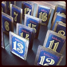 Painted Chalkboard Table Numbers by Paperwhites, a stationery boutique