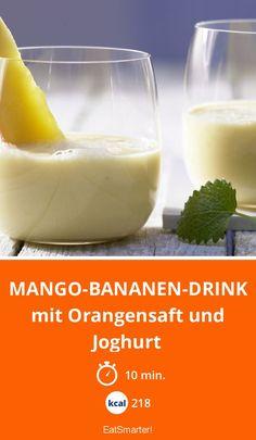 Mango-Bananen-Drink - mit Orangensaft und Joghurt - smarter - Kalorien: 218 Kcal - Zeit: 10 Min. | eatsmarter.de