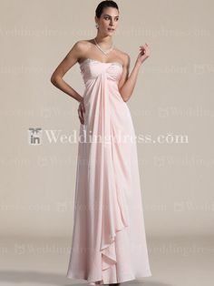Gorgeous Strapless Chiffon Bridesmaid Gown BR026N - Love this, only in a plum/purple color.