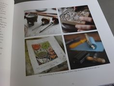 """A page from Angie Lewin's book """"Plants and Places"""" http://www.angielewin.co.uk/pages/plants-places"""