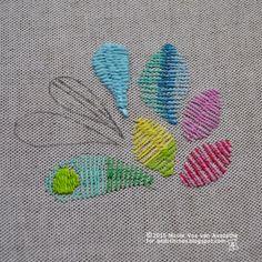 &Stitches: Tutorial: Roumanian Stitch and Roumanian Couching Stitch