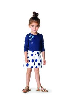 #Catimini #SpiritGraphique #Robe #Pois #Bleu #Noeud