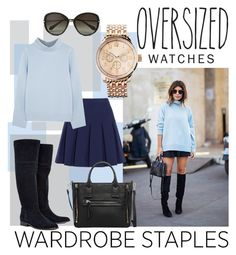 """""""wardrobe staple: oversized watch"""" by nulur ❤ liked on Polyvore"""