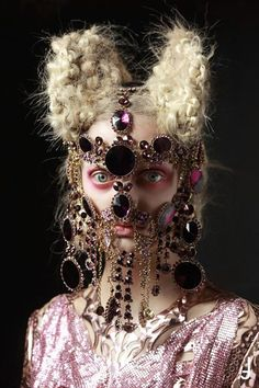 Facial jewellery! Amazingly weird and not easy to pull off we imagine