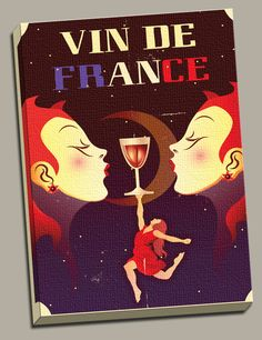 Vin De France Painting Print on Wrapped Canvas