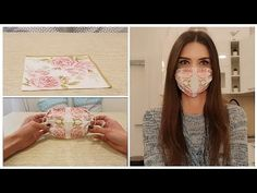 If you don't know how to sew and you don't have any extra fabric on hand, this DIY face mask works well for a quick run to the store. Halloween Face Mask, Diy Face Mask, Pocket Pattern, Free Pattern, Diy Unicorn, Extra Fabric, Thing 1, Facial Masks, Sewing Patterns