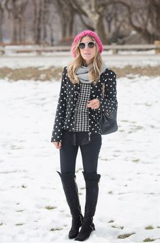 glam4you nativozza look newyork signature9 outifit snow winter chanel boots centralpark 3Meu Look: Mix and Match in Ny