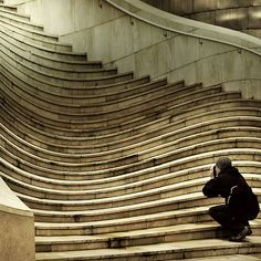 Unique Wavy Stairs.  I wonder if this is hard to walk up or down?