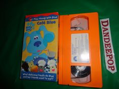 Blue's Clues Cafe' Blue VHS Video Movie 2001 find me at www.dandeepop.com Blues Clues, Kids Videos, Places, Movies, Films, Cinema, Movie, Film, Movie Quotes