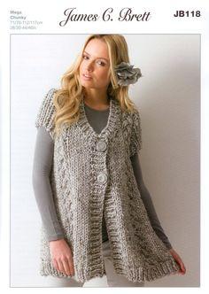 chunky knit patterns tunic women - Google Search