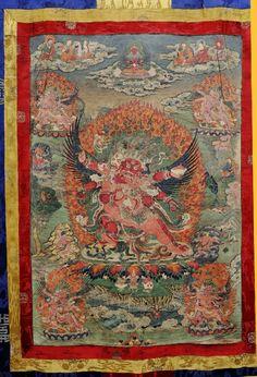 Tibetan Buddhist Thangka of Hayagriva