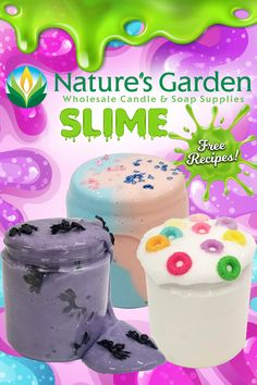 Free slime recipes by Natures Garden Fragrance