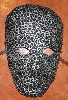 SALE Black and Silver Face Mask by Anthony by AnthonySaldivar