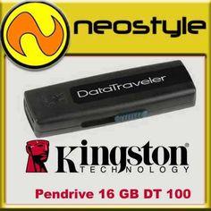 7249- Pendrive 16 Gb Kingston Data Traveler - 1 Año Gtia - $98.99