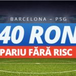 40 ron pariu fara risc la Barcelona – Paris Saint Germain