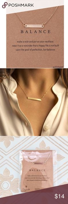 """✨1 Left!✨ Gold Bar Minimalist Necklace Minimalist style gold dipped horizontal bar necklace. Brand new in package. Adjustable from 19"""" to 21"""" in length. The perfect complement to any outfit! Bundle discount 15% off 2+ items 😊 Just 2 left!!  ❣️Price firm unless bundled ❣️No trades ❣️Same or next day shipping ❣️Please ask any questions before purchasing! Jewelry Necklaces"""
