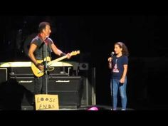 """""""Blinded by the light"""" - Bruce Springsteen & special guest"""" This made me real happy this is why I love him cause he loves his fans!"""